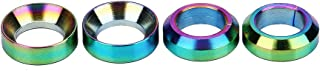 VGEBY 4pcs Titanium M6, Bicycle Brake Screw Washer Titanium M6 Concave Convex Balancer for Mountain Bike (Color : Colorful)