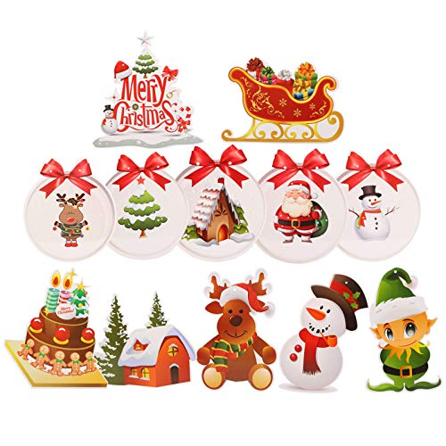 STOBOK 2 Conjuntos de Decoração de Redemoinho de Suspensão de Natal Feliz Natal Redemoinhos Guirlanda de Teto Suspensos de Vapor Em Espiral Banner para Natal Decoração de Festa de
