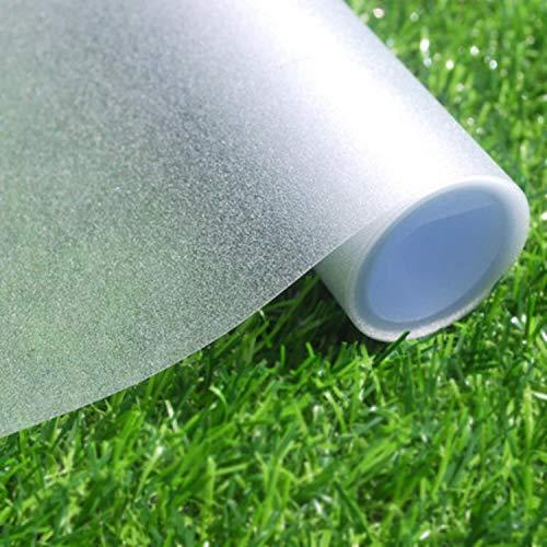 Fensterfolie Selbsthaftend Blickdicht Sichtschutzfolie Fenster Milchglasfolie Anti-UV Statisch Folie für Büro und Zuhause Bad (60 x 200cm, Matt)