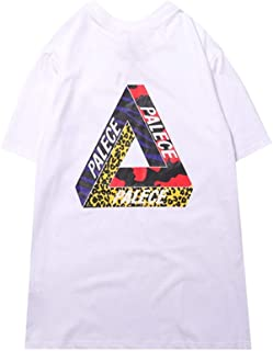 New Summer Palace Colorful Triangle Print Casual Short Sleeve T-Shirt for Men/Women
