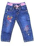 Sotala Baby Girly Mädchen Kinderhose Kinderjeans Jeans Hose mit Gummizug elastischer Bund gerader Schnitt süß putzig