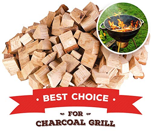 Zorestar Alder Wood Chunks for Smoking and Grilling - BBQ Cooking Wood 15 lb - All Natural Smoker Chunks, Size 2-3''