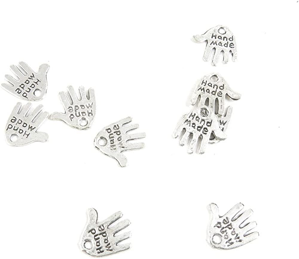 Antique Silver Tone Jewelry Jacksonville Mall Making Free shipping Neck Charms Handmade Findings