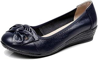 [WOOYOO] ぺたんこ靴 レディース オシャレ パンプス ウェッジソール 革靴 ソフト 蝶結び かわいい 脚長 ママシューズ 柔らかい コンフォート 歩きやすい フォーマル 大きいサイズ トラベル ブラック
