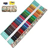 48 Colored Pencils Set, Art Color Pencils Drawing Kit with Portable Roll-Up Canvas