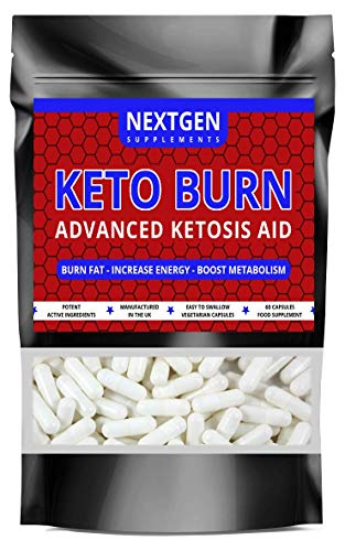 Keto Burn Advanced Ketosis Aid Weight Loss Diet Pills Fat Burner Supplement | 60 Capsules