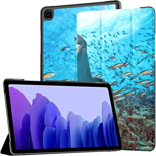 Dolphin Underwater On School Fish Reef Estuches para tabletas Galaxy Tab A7 Estuches para tabletas de 10.4 Pulgadas Tableta con Estuche con Auto Wake/Sleep Fit Estuche para Tableta Samsung