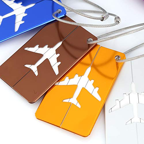 DAUERHAFT Address Tags Suitcase Label Bright Colors,for Travelling