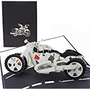 PopLife Motorcycle 3D Father's Day Pop Up Card - Happy Birthday, Graduation, Congratulations, Biker Retirement Gift, Anniversary - Sport Bike Model Collectors - for Husband, Son, Father, Brother