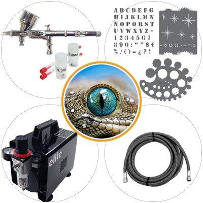 elite pro Kit de Aerografía 015b Nivel Medio