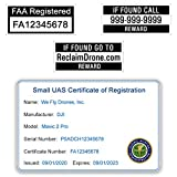 Mini 2 - DJI - FAA Drone Identification Bundle - Labels (2 Sets) + FAA...