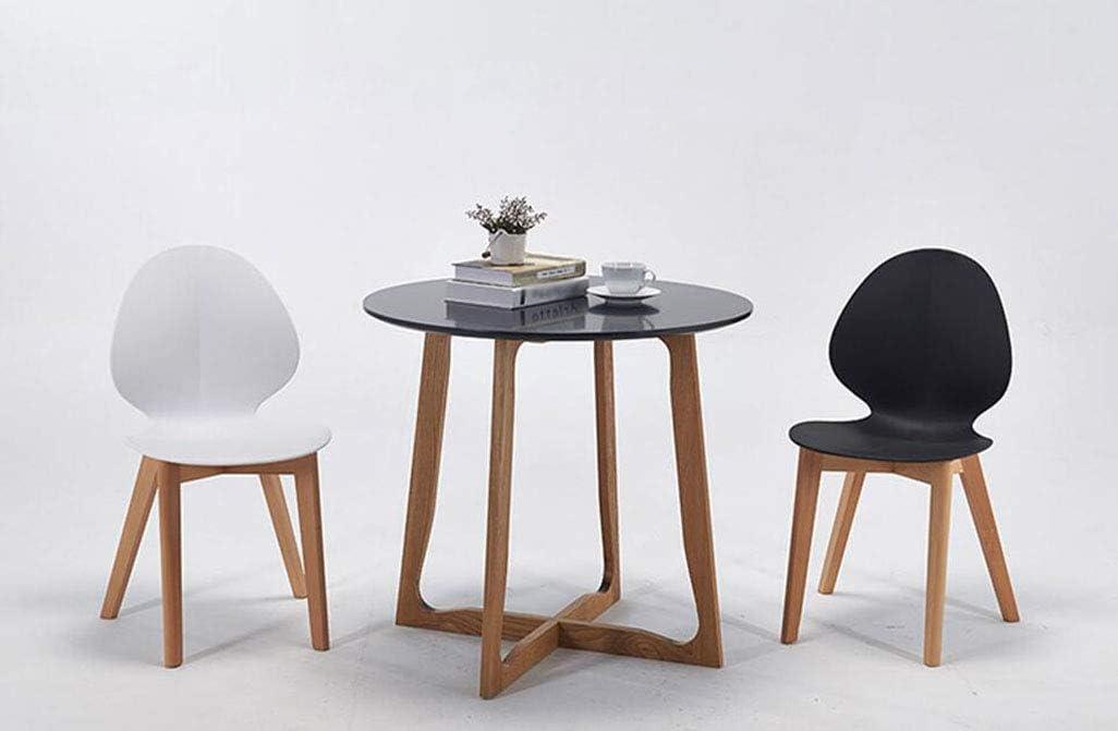 MYMAO Moderne Minimaliste Mode Salle à Manger Chaise Creative café Table et Chaise en Plastique Mixte Chaise à Manger [40cm * 44cm * 81cm],Black White