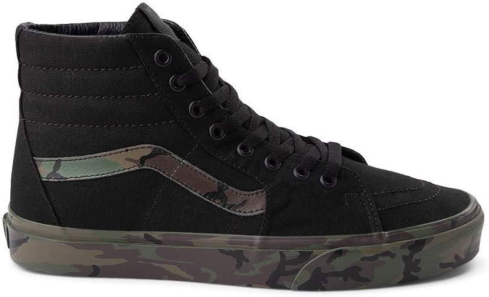 Vans Sk8 Hi Skate Shoe - Black/Camo