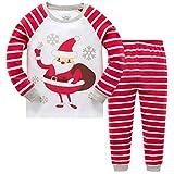Tkiames Baby Boys Girls Christmas Pigiama Set per Bambini per Bambini Renna Costume Manica Lunga Pjs Nightwear Sleepwear 2–9Y Snow 5-6 Anni