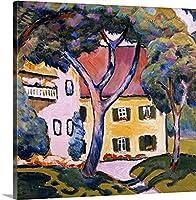 DIY 数字油絵 数字塗り絵 大人の子供のためのギフト デジタル油絵 数字キットでペイント 初心者と大人がキャンバスに番号でペイントすることを目的 - 風景の中の家 (50X40cm,Unframed)