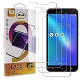 Guran 4 Pièces Protecteur D'écran en Verre Trempé pour ASUS Zenfone3 Max ZC553KL (5.5pouce) Smartphone Anti Rayures Protecteur Ultra-Mince HD Dureté 9H Transparent Film