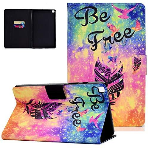 Case for Samsung Galaxy Tab A 8.0 2019 (Model SM-T290/SM-T295/T297),UGOcase Flip Stand Premium PU Leather Protective Wallet Case with Card Slots for Tab A 8.0' Tablet 2019 Release, Feather