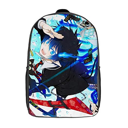 QUEMIN Mochila de ocio Blue Exorcist Mochila clásica para portátil de 17 pulgadas, mochila de camping, mochila de viaje al aire libre, mochila escolar universitaria