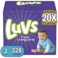 228-Count Luvs Ultra Leakguards Disposable Baby Diapers, Diapers Size 2