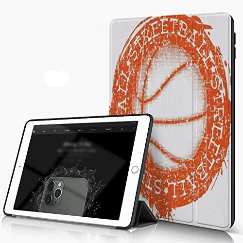 Funda para iPad 9.7 para iPad Pro 9.7 Pulgadas 2016,Baloncesto Baloncesto Blanco En Acción Deportes Recreación Atleta Ataque Baller Bask,incluye soporte magnético y funda para dormir/despertar
