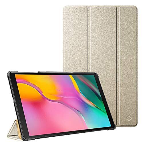 Fintie Hülle für Samsung Galaxy Tab A 10.1 T510/T515 2019 - Ultra Schlank Superleicht Kunstleder Schutzhülle Cover Hülle mit Standfunktion für Samsung Galaxy Tab A 10.1 Zoll 2019 Tablet, Gold