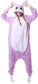 着ぐるみ パジャマ 大人用 動物 男女兼用 コスプレ コスチューム 仮装 ハロウィン クリスマス 紫うさぎ XL