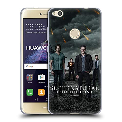 Official Supernatural Sam, Dean, Castiel & Crowley 2 Key Art Soft Gel Case Compatible for Huawei P8 Lite (2017)