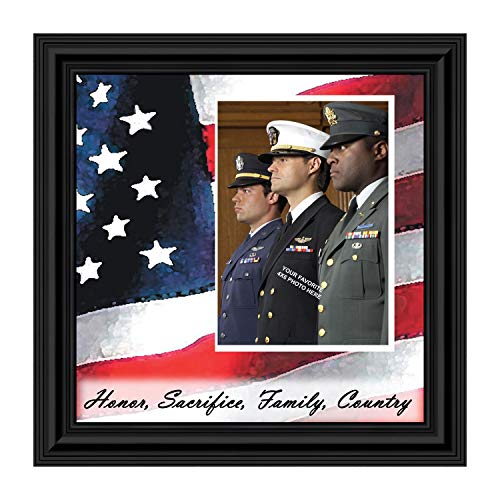 Crossroads Home Décor Freedom Calls, Personalized Military Picture Frame, 6598B