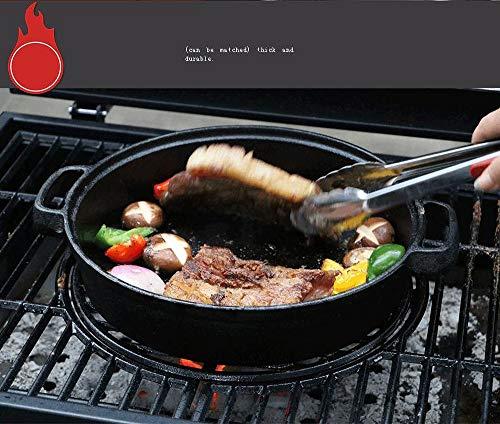 51fus3Gm96L - BYBYC Korean Grelha para Churasqueira Tragbare Barbacoa Griglia Carbon-Charcoal Parrilla Barbecue Grill Für Outdoor Churrasco Grill,Schwarz