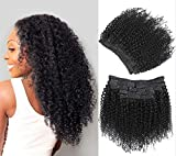 Kinky Curly Clip in Hair Extensions 10Pcs/Set with 21 clips Brazilian Virgin Hair Curly Human Hair Clip in Extensions for Black Woman natural color 120 Gram (14)