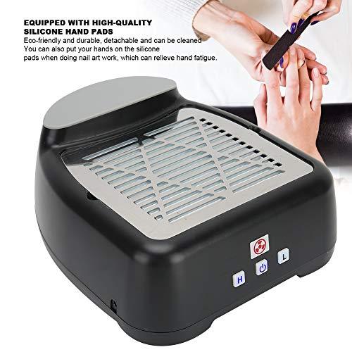 Aspirador de uñas ajustable, limpiador de succión de polvo de uñas, colector de succión de uñas, herramienta de manicura para el hogar(Transl)