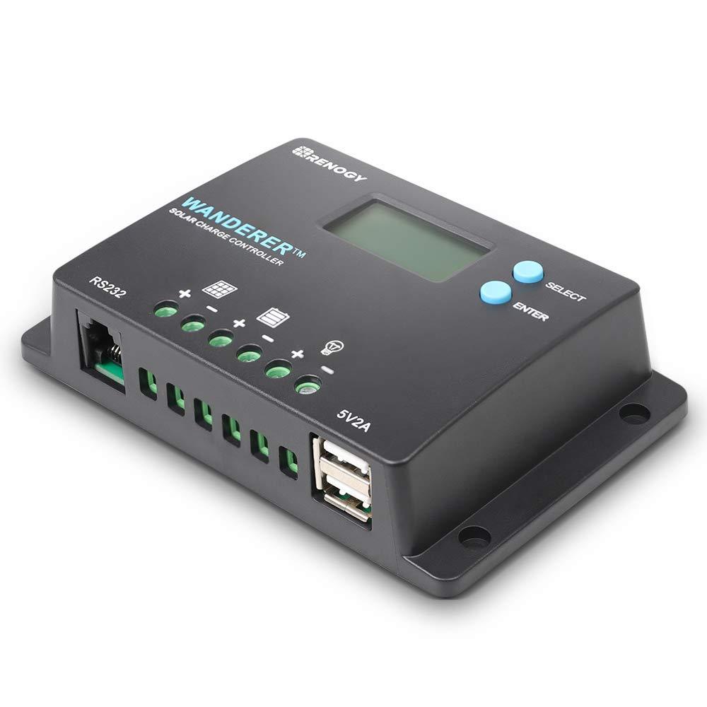 Renogy Wanderer 10 Amp 12V/24V PWM Negative Ground Solar Charge Controller