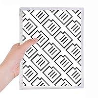 シールパターンの書き方 硬質プラスチックルーズリーフノートノート