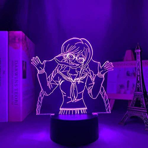 Luce notturna a LED 3DDanganronpa Toko Fukawa,7 colori Lampada da notte a LED 3D dimmerabile con telecomando ,per Bambini Brithday Natale Regalo