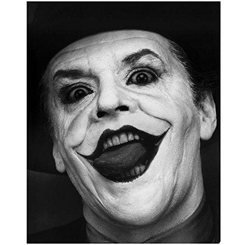 Jack Nicholson 8 x 10 Photo Batman as The Joker Black & White Pic Headshot Mouth Open Really Creepy kn