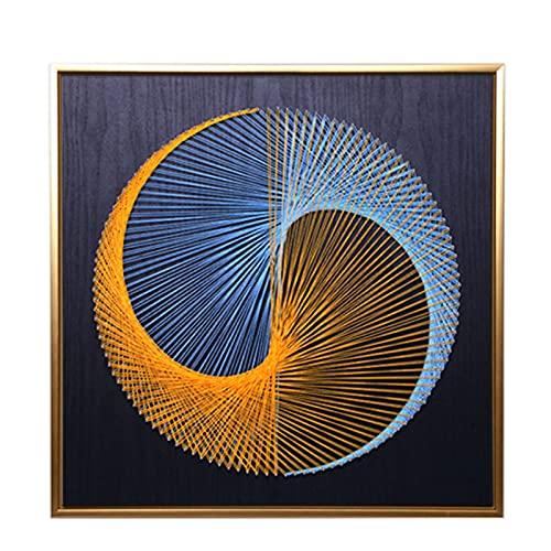 EnweMahi Nail String Art DIY Handgemachtes, Handmade Art Leinwand Bild, Wickellinien Malerei BüRodekoration FüR Geschenk