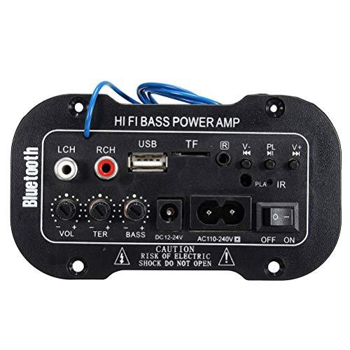 Digital Verstärker 220V Bluetooth HiFi Auto KFZ MP3 Stereo Audio Endstufe Amplifier Verstärker Car Audio Amplifier AMP Roller Booster Radio MP3 Verstärker MP3 für Auto KFZ PKW Motor CD DVD