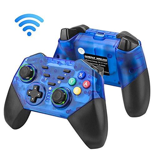 Gabriel Manette de Jeu sans Fil pour Nintendo Switch, Manette de Jeu Pro sans Fil pour Nintendo Switch Console de Chargement USB de Type C (Version 6.0) - Bleu
