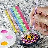 8Pcs Mandala Art Dotting Rock Painting Kit Ball Stylus Dotting Tools Para Mandala Art Rock Canvas Painting, Manualidades Para Niños, Nail Art (Básico)