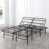 Classic Brands Black Adjustable Heavy Duty Metal 14-Inch Mattress Foundation Bed Frame - Full