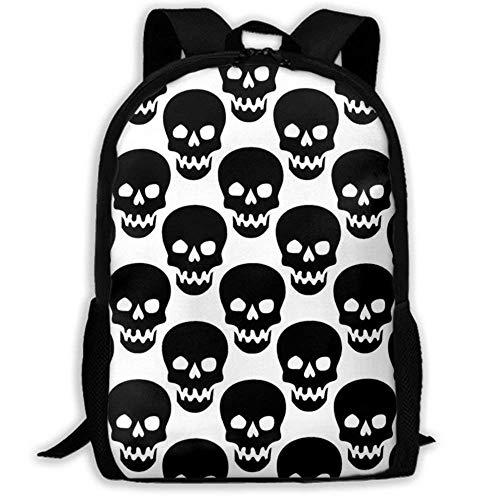 XCNGG Erwachsenen-Vollformat-Druckrucksack Lässiger Rucksack Rucksack Schultasche Laptop Backpack Business Thin and Durable Travel Backpack - University Men and Women Computer Bag - Skull