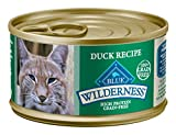 Blue Buffalo Wilderness High Protein Grain Free, Natural Adult Pate Wet Cat Food, Duck 3-oz cans (Pack of 24)