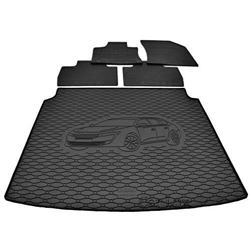 Car Lux DUO04920 - Alfombras Alfombrillas de goma a medida + alfombra...