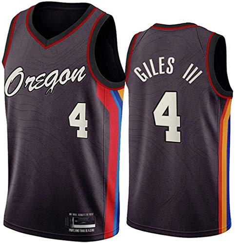 XSJY Jersey De Las Mujeres para Hombres - NBA Portland Trail Blazers # 4 Harry Giles Jerseys Transpirable Bordado Baloncesto Swingman Jersey,XL:180~185cm/85~95kg