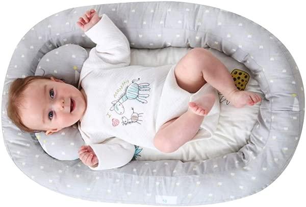 MiyaSudy Baby Lounger Mattress Bed Portable Baby Nest For Newborn Newborn Portable Bassinet Crib Newborn Lounger Pillow 29 13inch