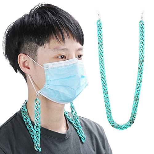 Cadena para soporte de boca-mufla, cadena para boca-mufla Accesorio práctico No se preocupe por perderlo para actividades al aire libre para trabajar Viajes para hombres y mujeres(Turquoise 2030)