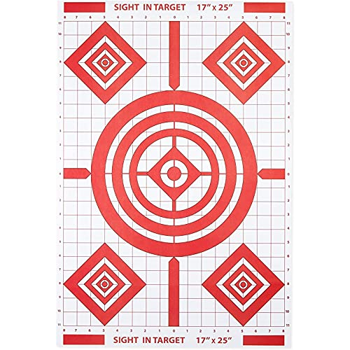 Okuna Outpost Targets for Shooting Range, Red and White (17 x 25 Inches, 50 Pack)