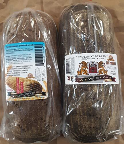 European Style 100% Rye Bread & Riga Rye Bread (1 Loaf Each)
