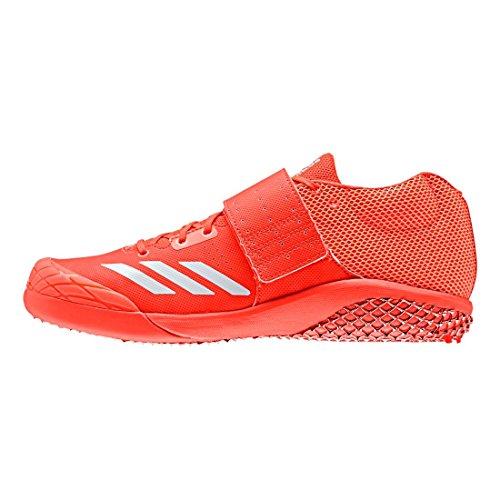 adidas - Zapatillas de atletismo para hombre Rojo rojo, blanco y plateado