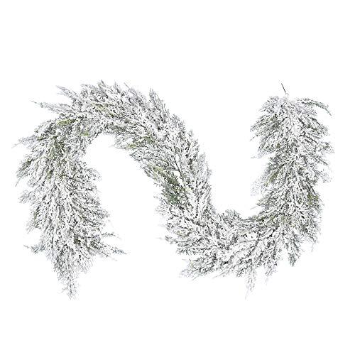 Vickerman Snowy Cedar Series Artificial-Plants, 75', Green